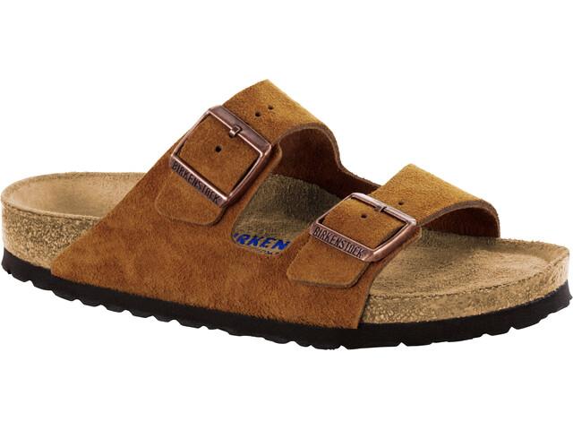 Birkenstock Arizona Soft Footbed Sandals Suede Leather mink